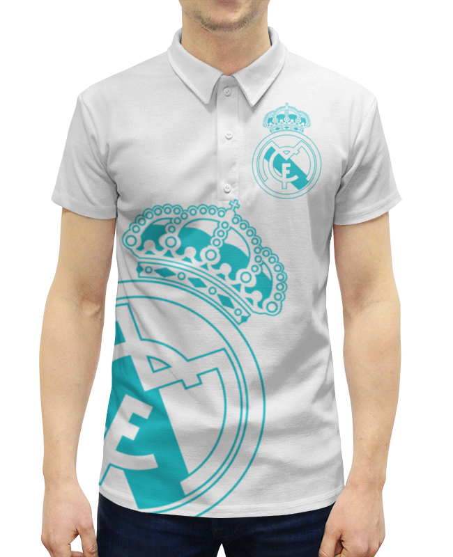 Рубашка Поло с полной запечаткой Printio Реал мадрид
