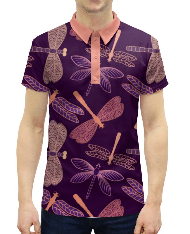 Рубашка Поло с полной запечаткой Printio Стрекозы поло roger kent klingel цвет коралловый