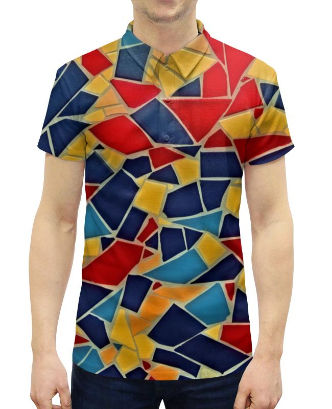 Рубашка Поло с полной запечаткой Printio Стекла