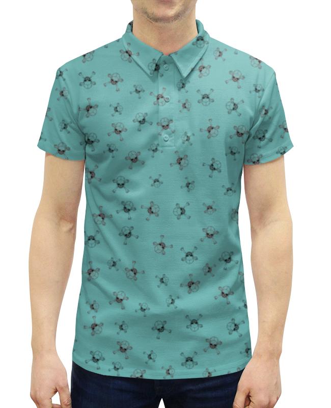 Рубашка Поло с полной запечаткой Printio Черепа