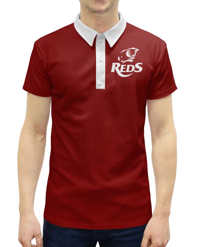 Рубашка Поло с полной запечаткой Printio Редс регби