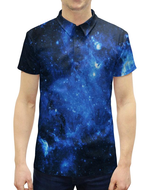цена на Рубашка Поло с полной запечаткой Printio Космические вспышки