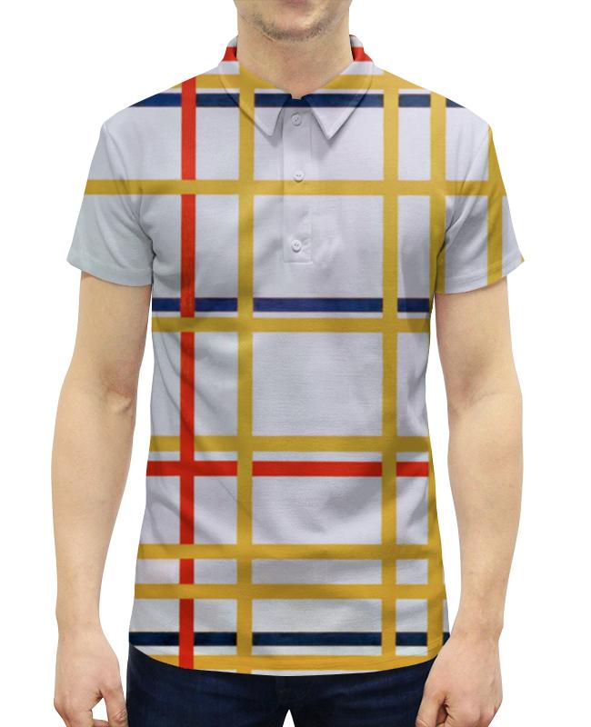 Рубашка Поло с полной запечаткой Printio Нью-йорк 1 (питер мондриан)