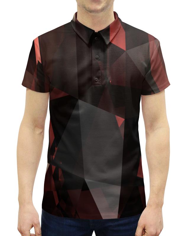 Рубашка Поло с полной запечаткой Printio Рубин