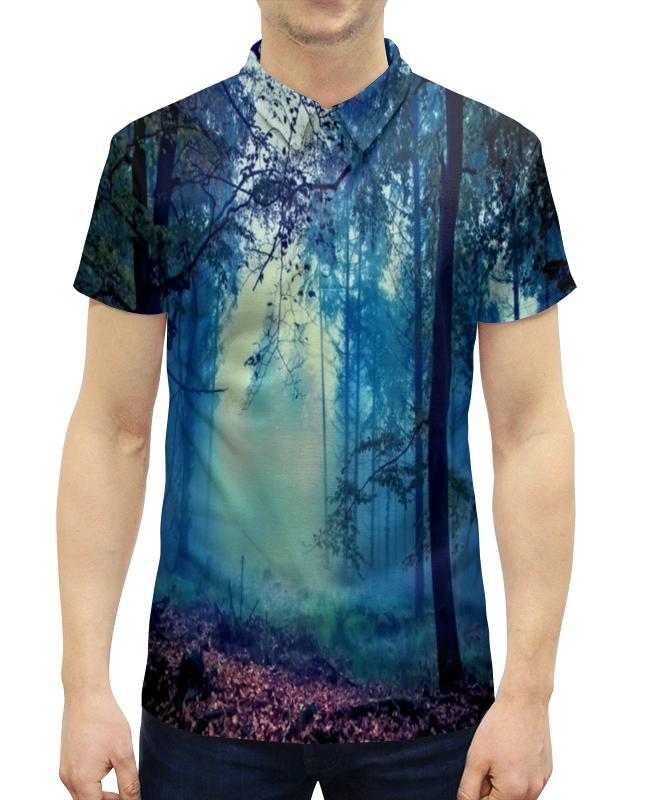 Рубашка Поло с полной запечаткой Printio Сумрачный лес