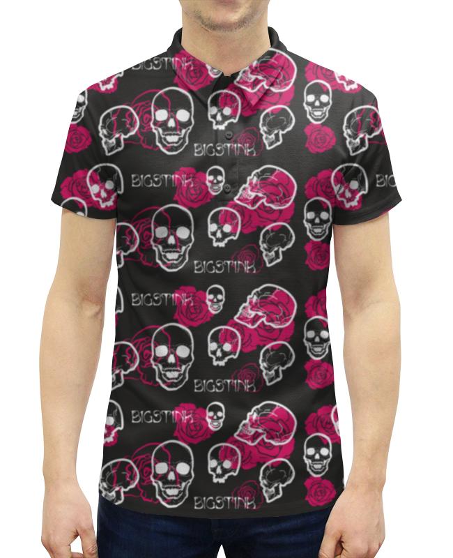 все цены на Рубашка Поло с полной запечаткой Printio Bigstink skull and roses