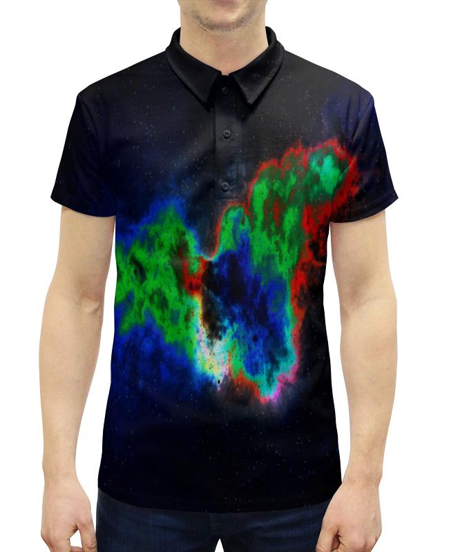Рубашка Поло с полной запечаткой Printio Космический взрыв