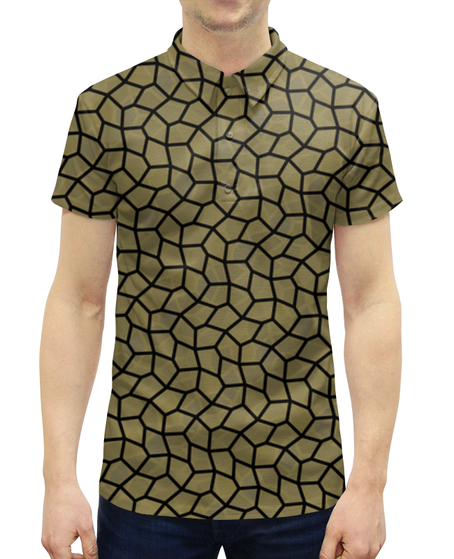 все цены на Рубашка Поло с полной запечаткой Printio Медовая мозаика онлайн