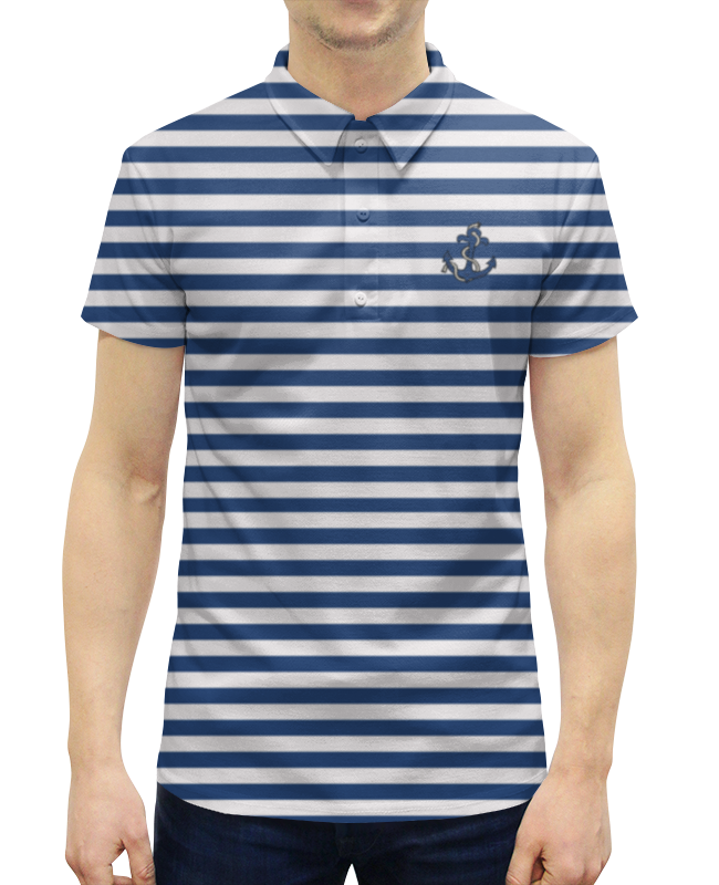 Рубашка Поло с полной запечаткой Printio Якорь одежда якорь