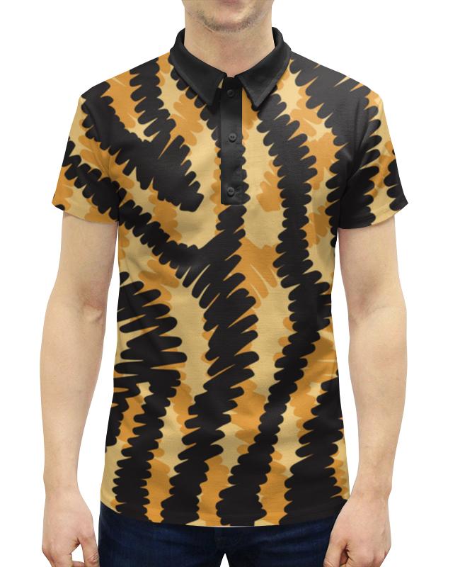 Рубашка Поло с полной запечаткой Printio Тигровый тигровый орех купить в москве