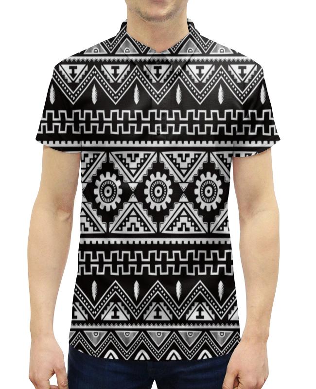 Рубашка Поло с полной запечаткой Printio Черно-белая графика