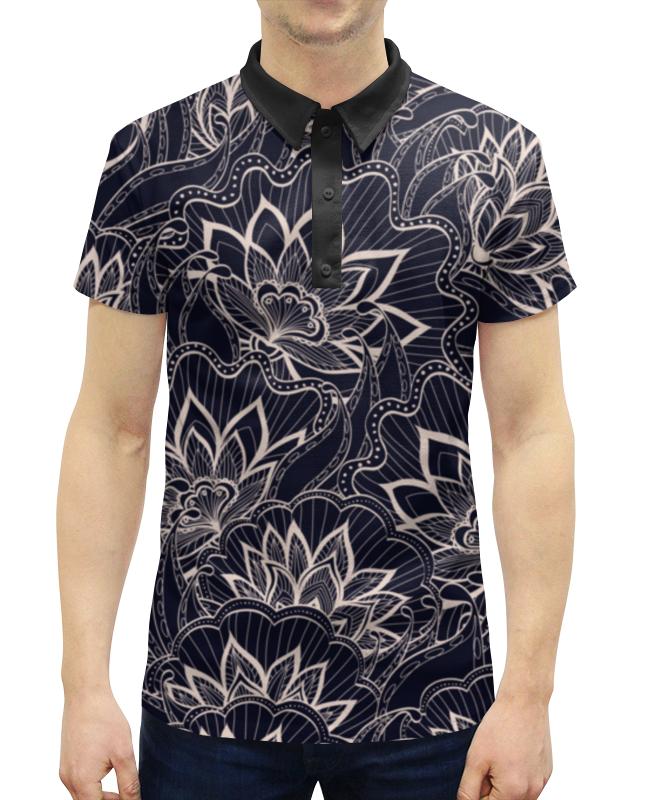 Рубашка Поло с полной запечаткой Printio Весенний узор поло print bar узор