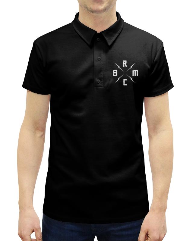 Рубашка Поло с полной запечаткой Printio Black rebel motorcycle club