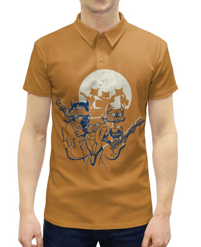 Рубашка Поло с полной запечаткой Printio Кошачий концерт футболка с полной запечаткой женская printio кошачий концерт