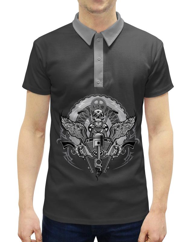 Рубашка Поло с полной запечаткой Printio Байкер автокресло inglesina huggy multifix для коляски trilogy marina