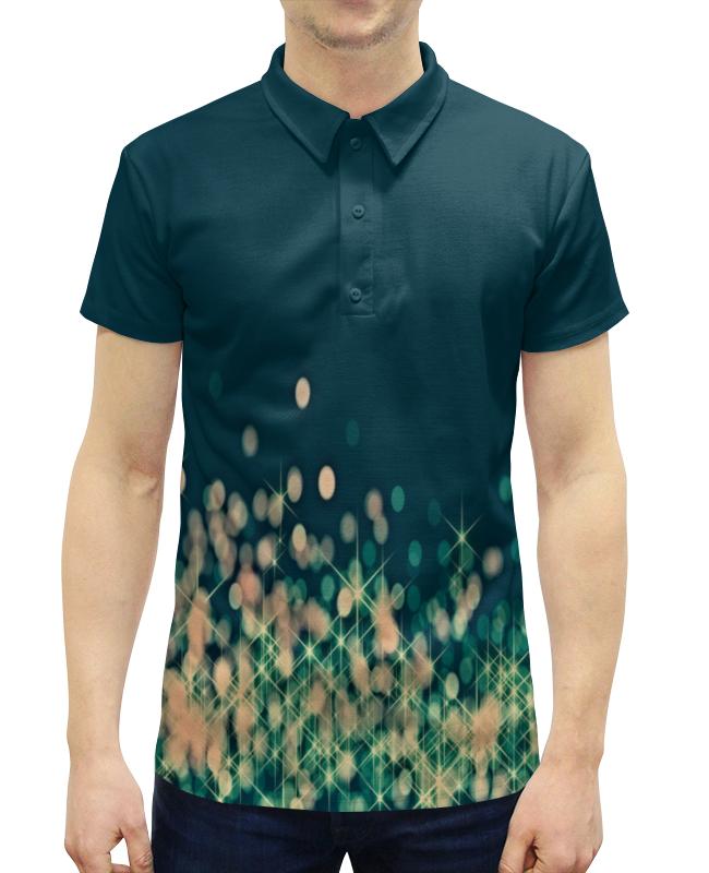Рубашка Поло с полной запечаткой Printio Мерцающий