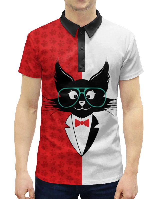 Рубашка Поло с полной запечаткой Printio Кот стиляга рубашка поло printio кот мореход