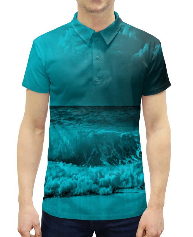 Рубашка Поло с полной запечаткой Printio Морские волны рубашка поло с полной запечаткой printio волны психоделика