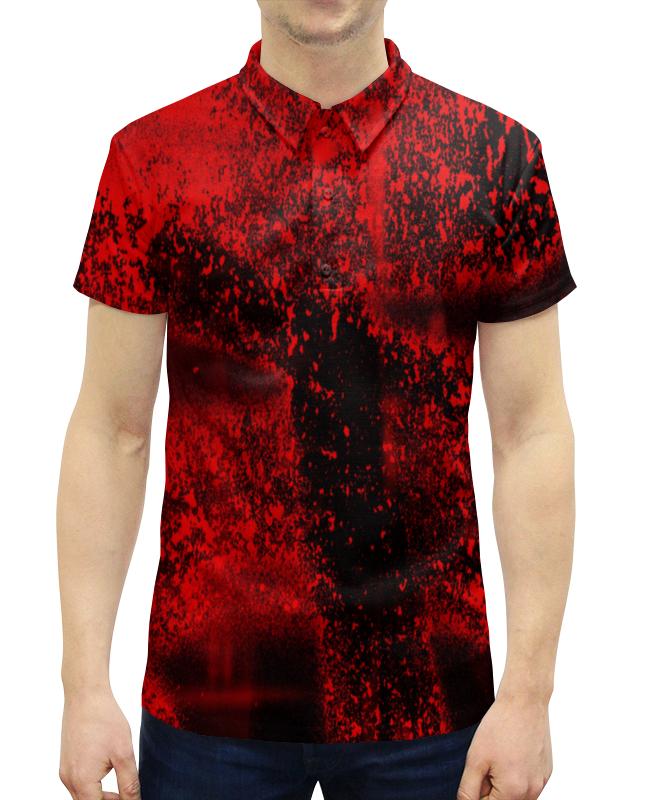 Рубашка Поло с полной запечаткой Printio Красные брызги цены