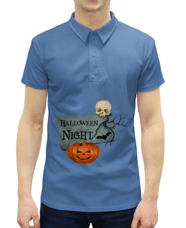 Рубашка Поло с полной запечаткой Printio Хэллоуин поло print bar черепа с бантиками