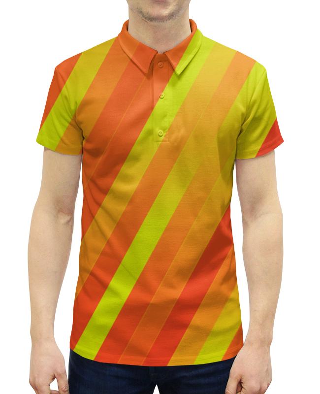 Рубашка Поло с полной запечаткой Printio Желто-оранжевые линии рубашка поло с полной запечаткой printio оранжевые линии