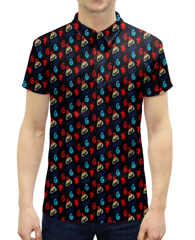 Рубашка Поло с полной запечаткой Printio Кексик футболка с полной запечаткой мужская printio кексик