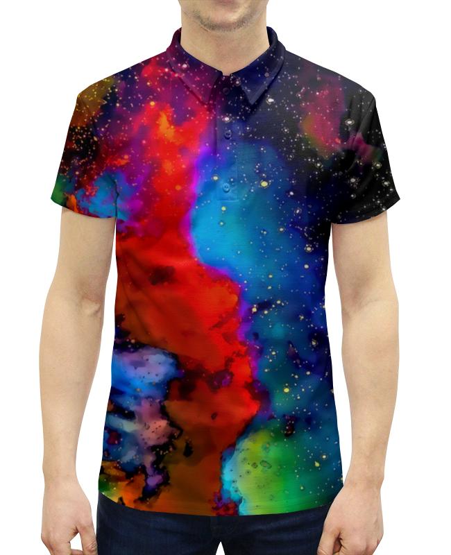 Рубашка Поло с полной запечаткой Printio Краски космоса поло print bar линии краски