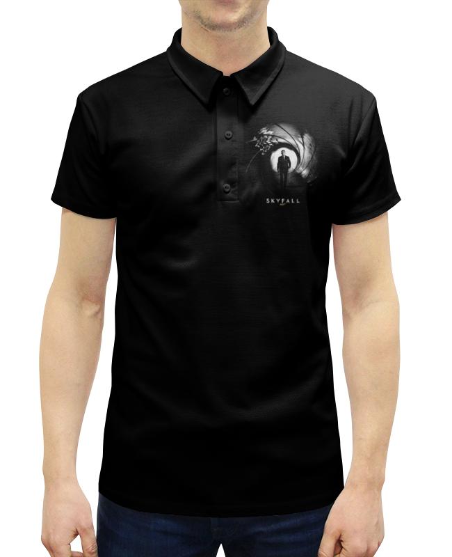 Рубашка Поло с полной запечаткой Printio Skyfall (агент 007)