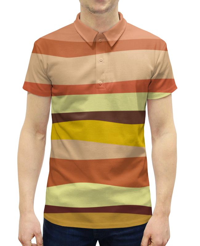Рубашка Поло с полной запечаткой Printio Теплый песок теплый пол