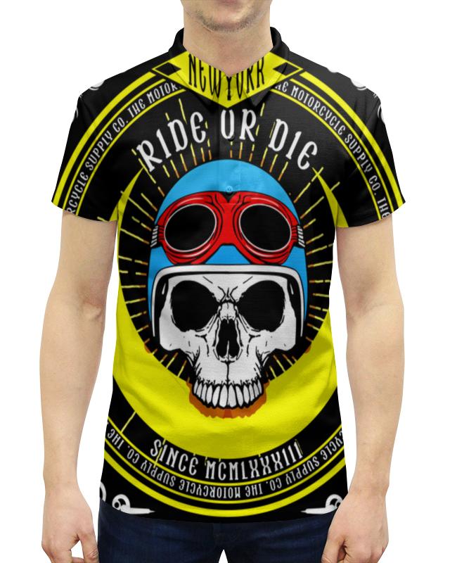 Рубашка Поло с полной запечаткой Printio Ride or die print bar fish or die