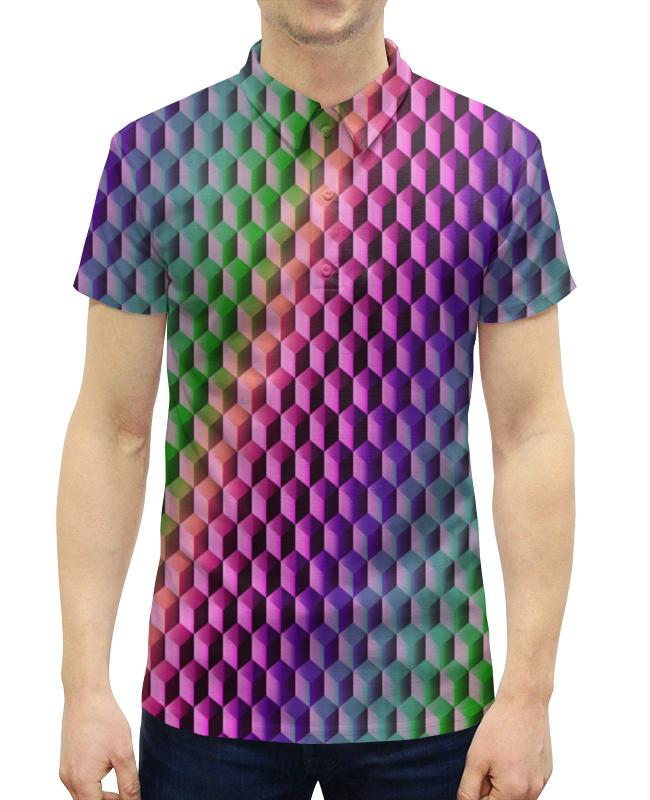 Рубашка Поло с полной запечаткой Printio Градиент борцовка с полной запечаткой printio градиент