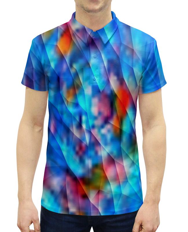 Рубашка Поло с полной запечаткой Printio Красочный узор рубашка поло с полной запечаткой printio вязаный узор