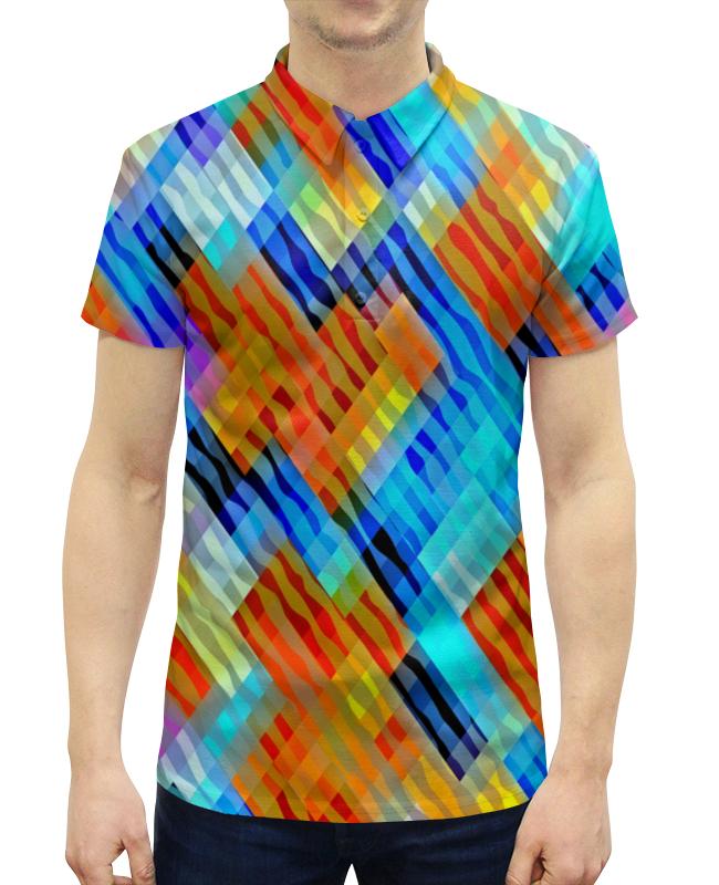 Рубашка Поло с полной запечаткой Printio Волнистый узор футболка с полной запечаткой для девочек printio волнистый узор