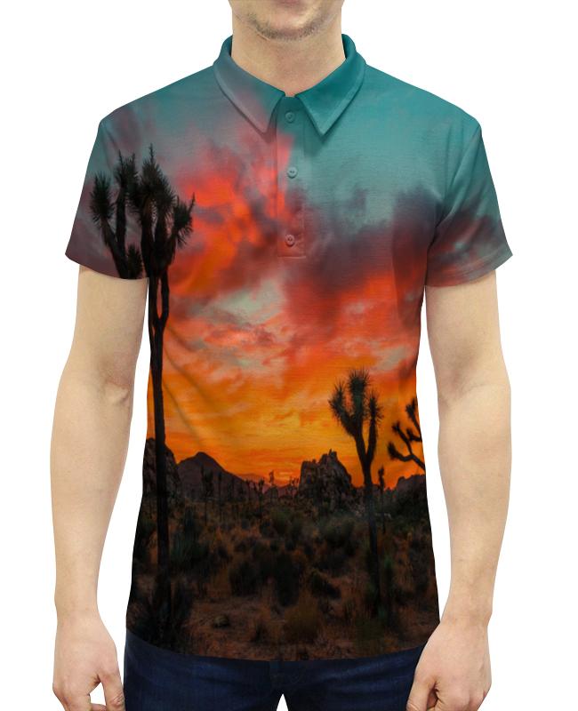 Рубашка Поло с полной запечаткой Printio Закат в пустыне рубашка поло с полной запечаткой printio пламенный закат