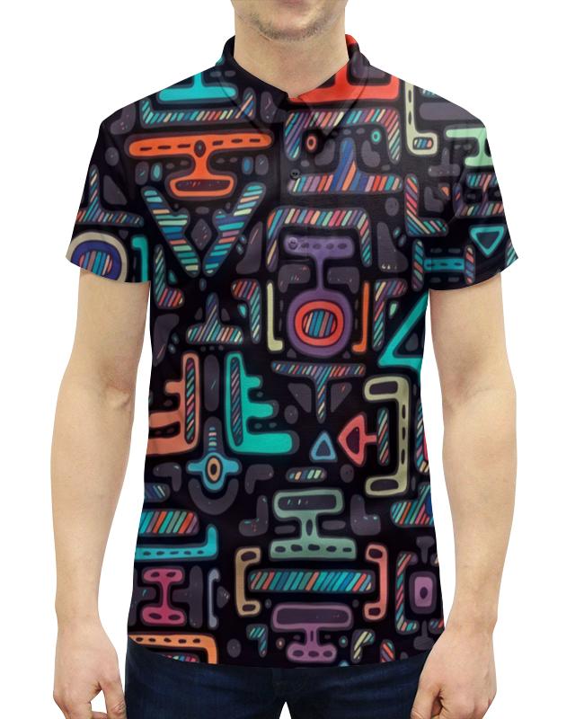 Рубашка Поло с полной запечаткой Printio Символы матин и янтры защитные символы востока