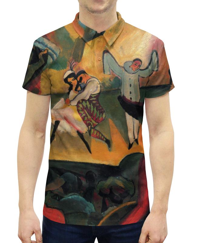 Рубашка Поло с полной запечаткой Printio Русский балет (август маке) футболка с полной запечаткой женская printio парусник в тегернзее август маке