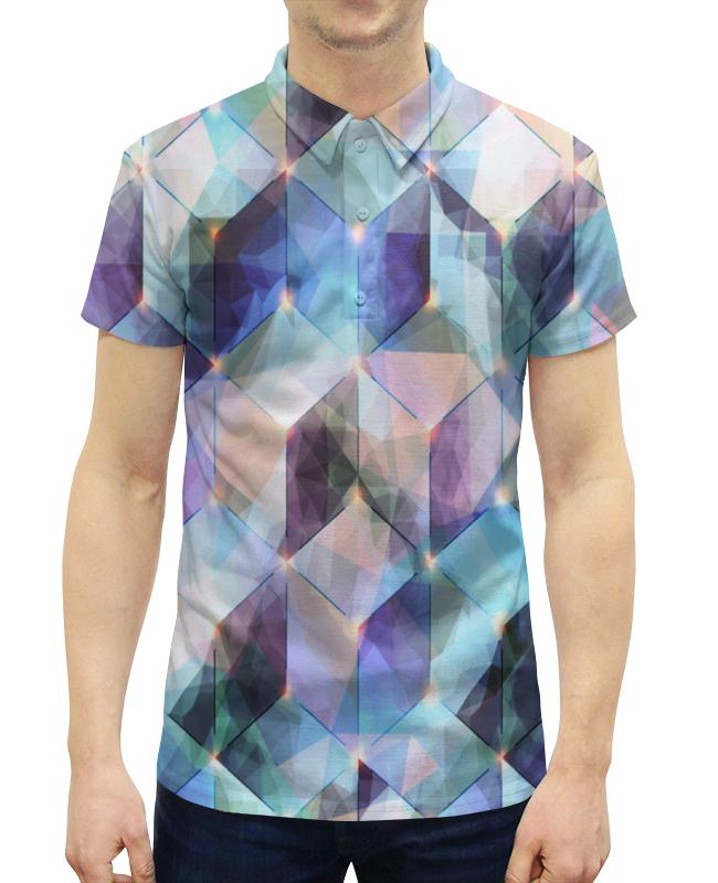 Рубашка Поло с полной запечаткой Printio Мозаика ромбов