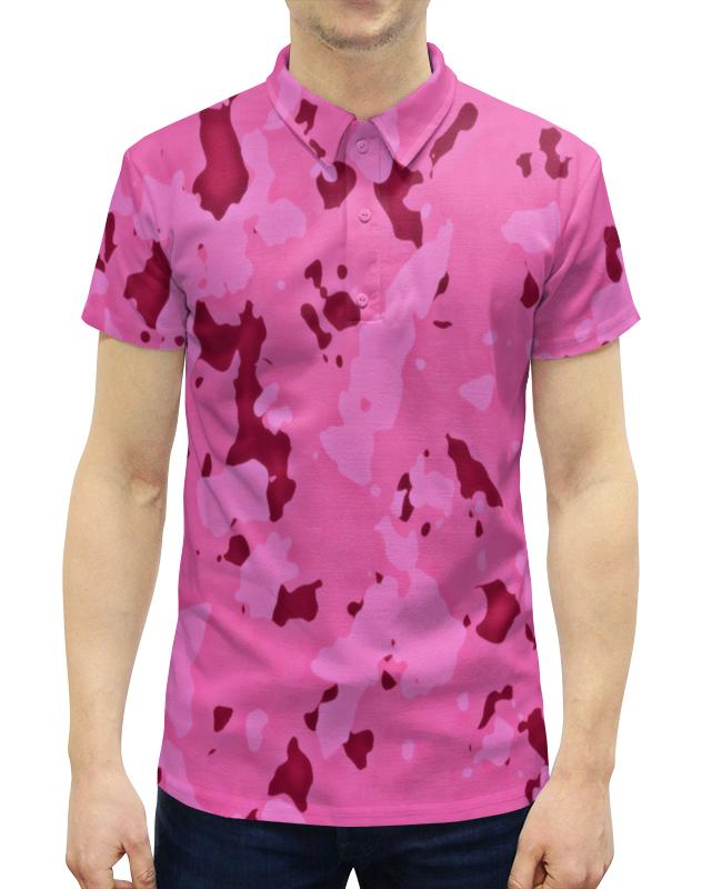 Рубашка Поло с полной запечаткой Printio Розовый камуфляж рубашка dress in klingel цвет белый розовый хаки рисунок