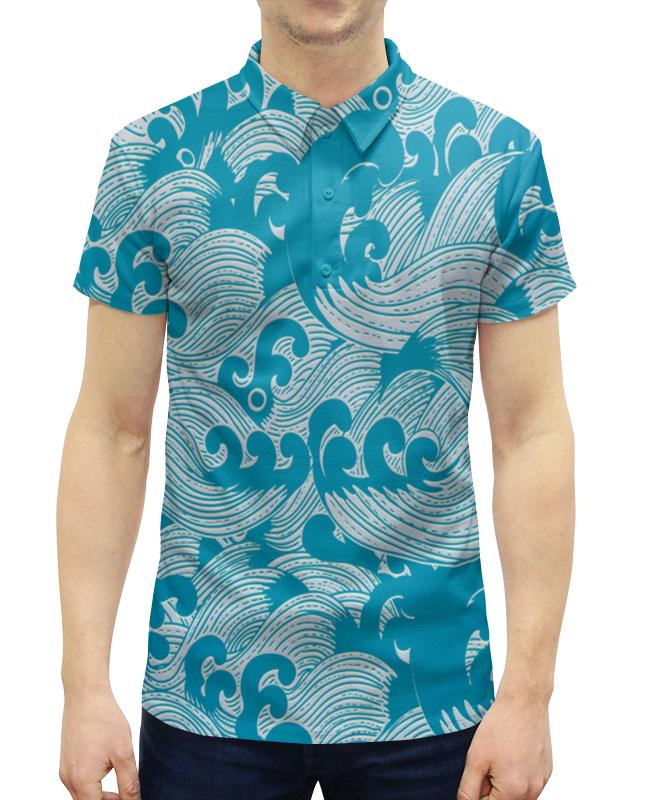 Рубашка Поло с полной запечаткой Printio Волны рубашка поло с полной запечаткой printio волны психоделика