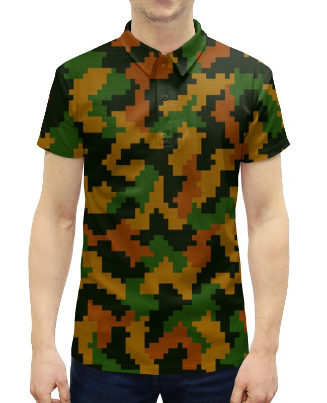 Рубашка Поло с полной запечаткой Printio Камуфляж песочный