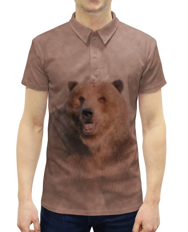 Рубашка Поло с полной запечаткой Printio Медведь printio рубашка поло с полной запечаткой