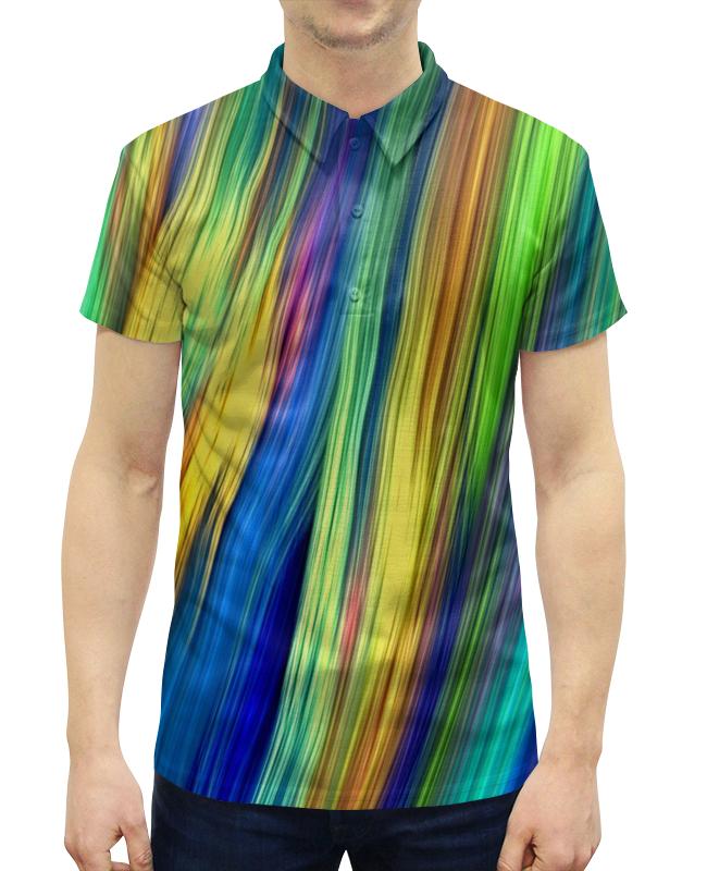 Рубашка Поло с полной запечаткой Printio Радужные линии рубашка поло с полной запечаткой printio линии