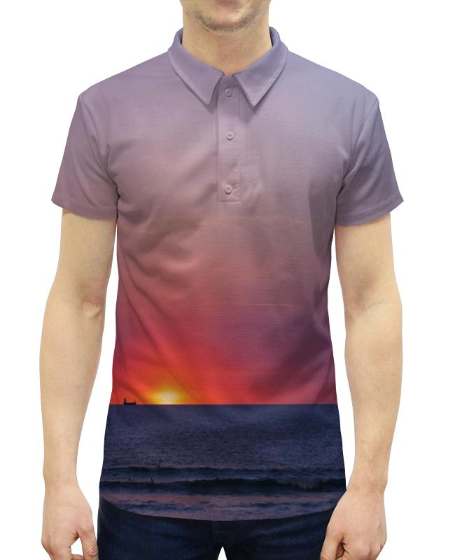 Рубашка Поло с полной запечаткой Printio Закат у моря рубашка поло с полной запечаткой printio закат у моря