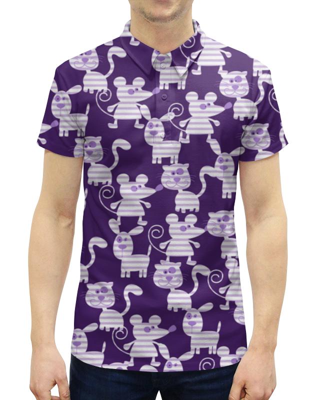 все цены на Рубашка Поло с полной запечаткой Printio Коты, мыши и собаки