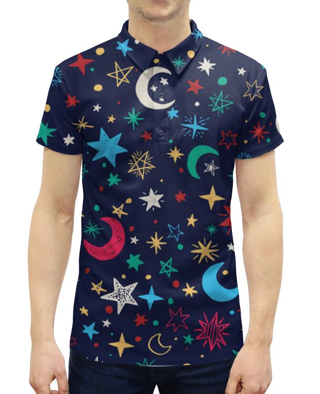 Рубашка Поло с полной запечаткой Printio Звёздное небо свитшот унисекс с полной запечаткой printio звёздное небо