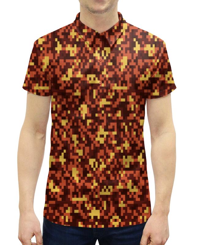 Рубашка Поло с полной запечаткой Printio Коричневый камуфляж