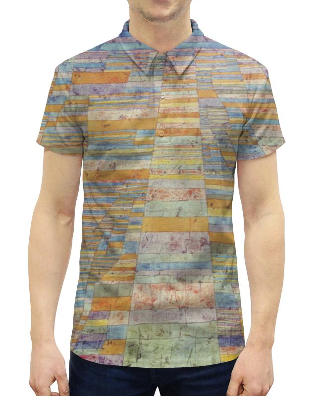 Рубашка Поло с полной запечаткой Printio и переулки (пауль клее)