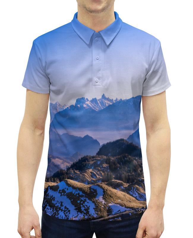 Рубашка Поло с полной запечаткой Printio Скалы рубашка поло printio фк нефтехимик