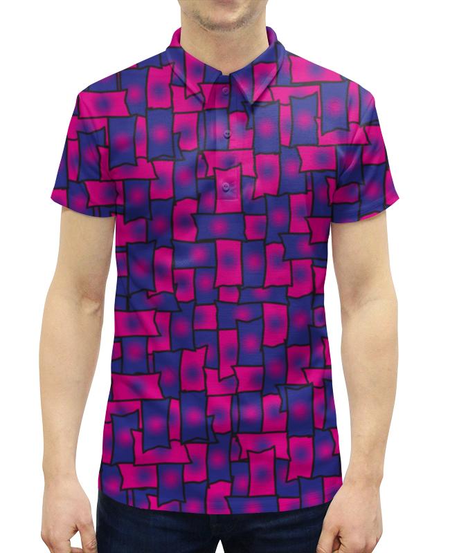 Рубашка Поло с полной запечаткой Printio Прямоугольники леггинсы printio прямоугольники
