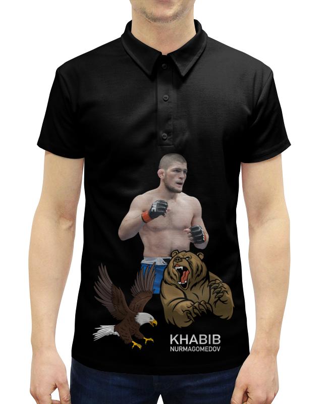 Рубашка Поло с полной запечаткой Printio хабиб нурмагомедов худи print bar хабиб нурмагомедов